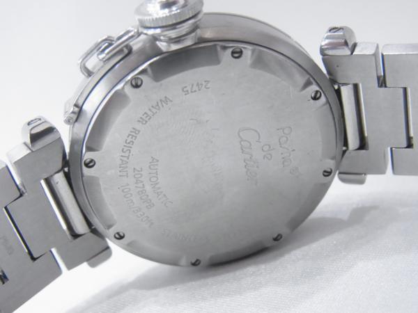 1円~Cartier カルティエ パシャC ビッグデイト ボーイズ オートマ ピンク 本体のみ 腕回り16.5cm 動作OK_画像5
