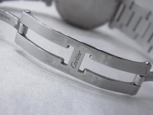 1円~Cartier カルティエ パシャC ビッグデイト ボーイズ オートマ ピンク 本体のみ 腕回り16.5cm 動作OK_画像6