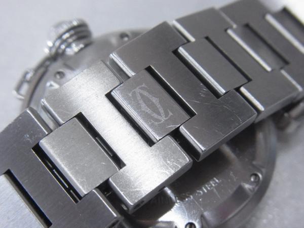 1円~Cartier カルティエ パシャC ビッグデイト ボーイズ オートマ ピンク 本体のみ 腕回り16.5cm 動作OK_画像7