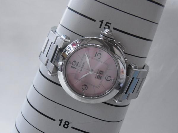 1円~Cartier カルティエ パシャC ビッグデイト ボーイズ オートマ ピンク 本体のみ 腕回り16.5cm 動作OK_画像9