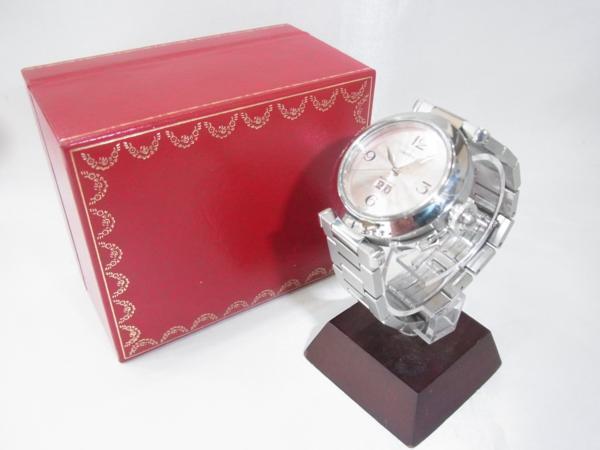 1円~Cartier カルティエ パシャC ビッグデイト ボーイズ オートマ ピンク 本体のみ 腕回り16.5cm 動作OK_画像10
