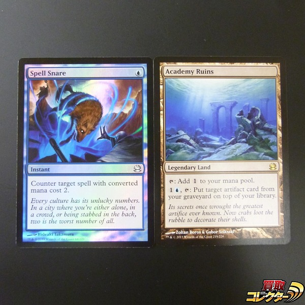 n A139o MTG 呪文嵌め Spell Snare Foil アカデミーの廃墟 Academy Ruins | 1円~