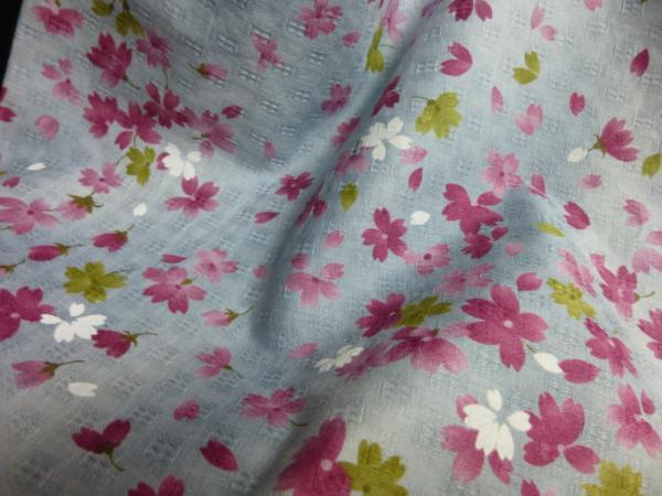 ☆オリジナル製レトロ木綿着物(ゆかた)+帯セット現品限り⑤_肌触りが柔らかい木綿生地です