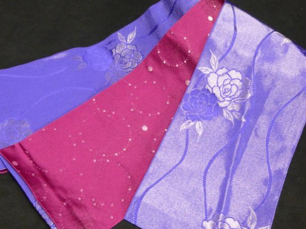 ☆オリジナル製レトロ木綿着物(ゆかた)+帯セット現品限り⑤_高級素材使用 西陣製半幅小袋帯