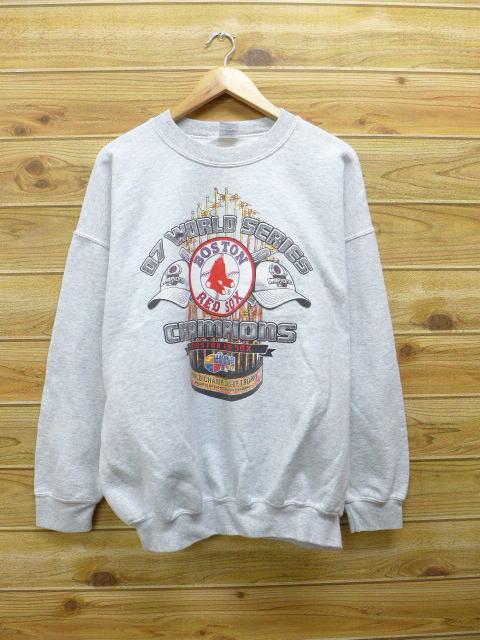 XL★古着 中古 スウェット MLB ボストンレッドソックス 大きいサイズ グレー 霜降り 17mar29 グッズの画像