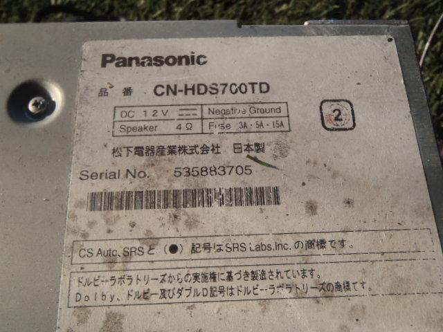 ☆シエンタ NCP81 社外 パナソニック ストラーダ CN-HDS700TD HDDナビ_画像3