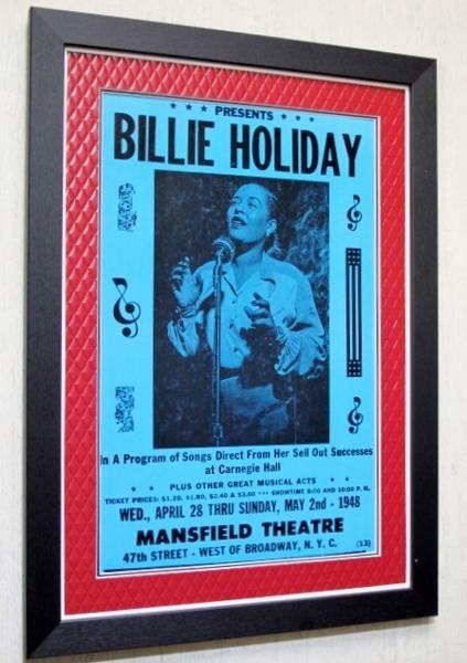ビリー・ホリディ/ライブ・ポスター額装/Billy Holiday/レディ・デイ/Lady Day/額付ジャズポスター/Gumbo Art/ガンボアート