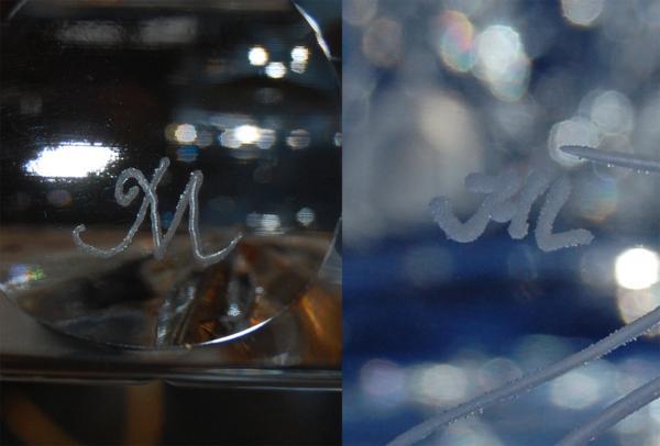 マイセン クリスタル 花瓶 クリア フラワーベース ケース_画像6