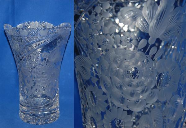 マイセン クリスタル 花瓶 クリア フラワーベース ケース_画像1