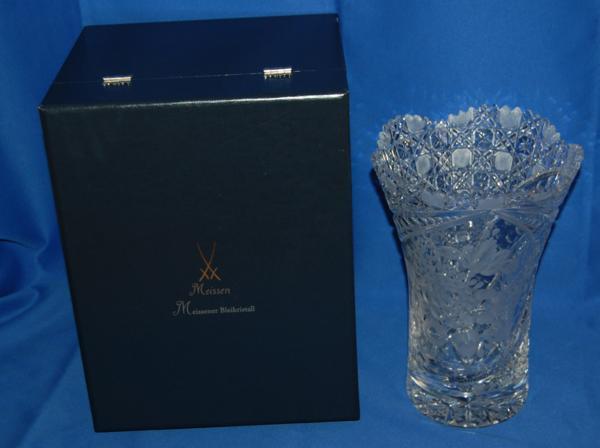 マイセン クリスタル 花瓶 クリア フラワーベース ケース_画像7
