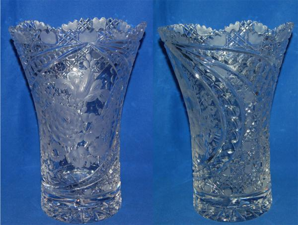 マイセン クリスタル 花瓶 クリア フラワーベース ケース_画像2