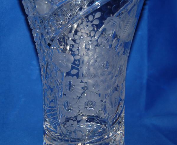 マイセン クリスタル 花瓶 クリア フラワーベース ケース_画像5