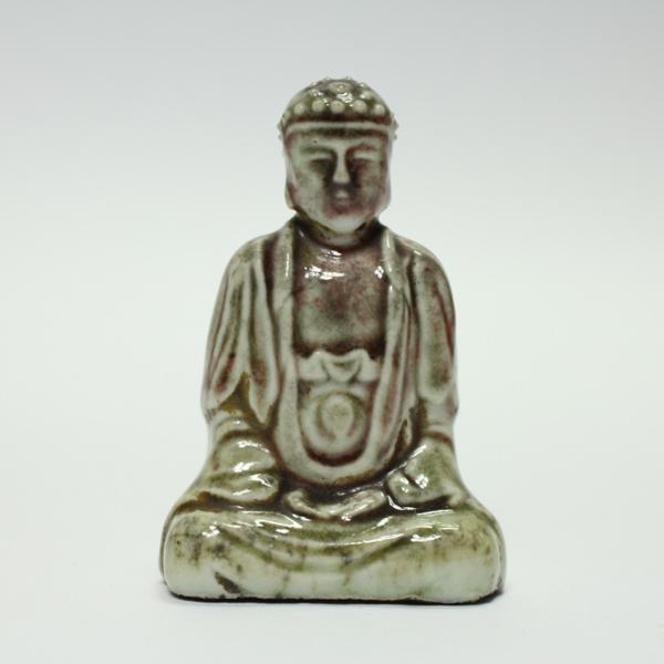 古そうな陶器の仏像 時代物 1110M26r_画像1