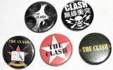 ★The Clash ザ・クラッシュ バッジ 5pセット正規 punk パンク