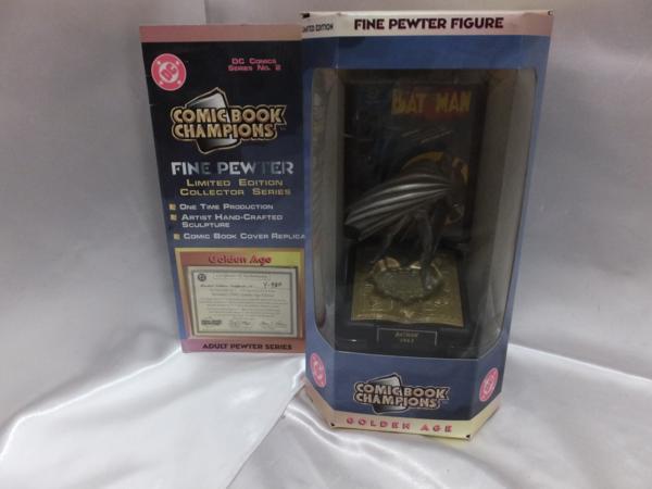 BATMAN バットマン コミックブックNo.限定ピューターフィギュア GOLDEN AGE 珍品 DCコミック グッズの画像