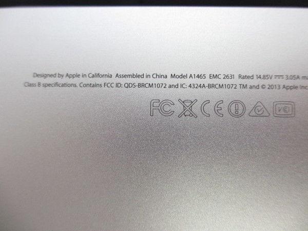 [極美品1円] Apple Macbook Air MD711J/A A1465 Core i5 1.3GHz 4GB 128GB 11.6インチ Mid 2013_画像9
