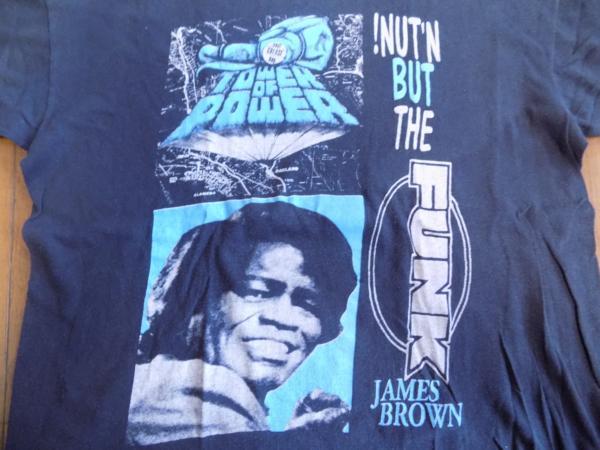 レア80'S 70'S ジェイムスブラウン JAMES BROWN & TOWER OF POWER ロックTシャツ ファンク FUNK パキ綿 USA製 R&B