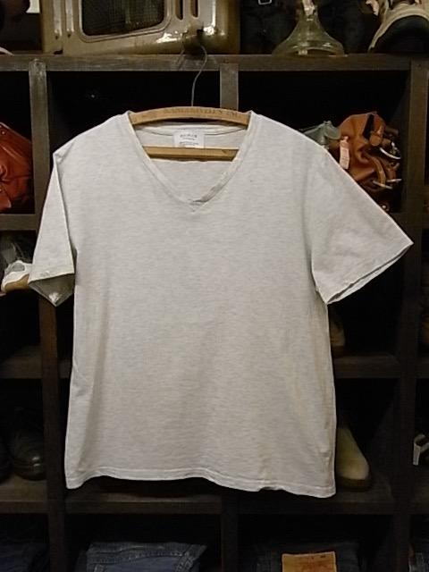 日本製 EDIFICE 霜降りグレー Vネック 半袖 Tシャツ SIZE 48 エディフィス_画像1