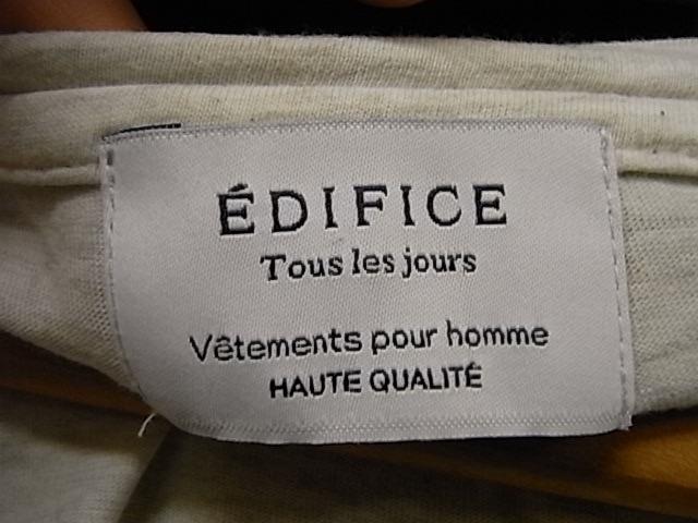 日本製 EDIFICE 霜降りグレー Vネック 半袖 Tシャツ SIZE 48 エディフィス_画像3