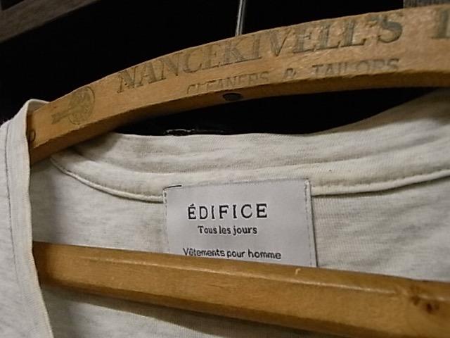 日本製 EDIFICE 霜降りグレー Vネック 半袖 Tシャツ SIZE 48 エディフィス_画像7