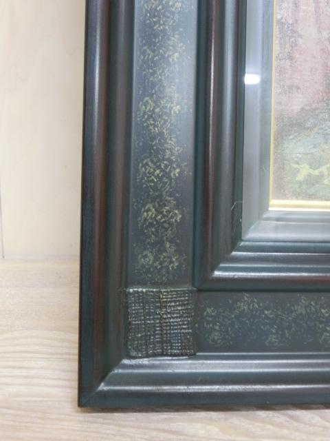 t1326 松尾洋明 「エルサレムの道」 油彩画 画サイズ/W31.6×H41cm 額装サイズW46.3×H55.4×D5.7cm_画像7