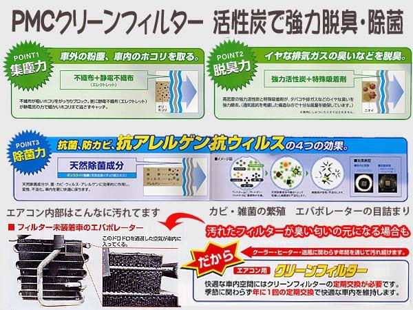 インプレッサアネシス エアコン用クリーンフィルター PC-806C_画像3