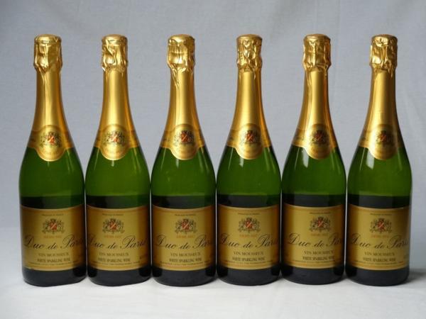 スパークリングワイン甘口6本セット デュック ド パリ ドミ_画像1