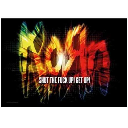 海外限定 公式 Korn コーン 特大布ポスター G108