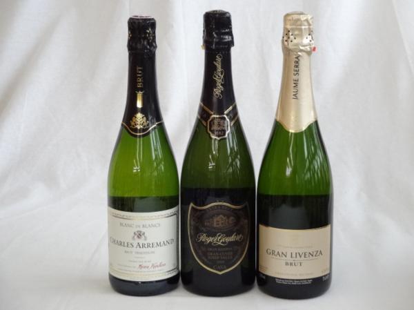 世界のスパークリングワイン辛口3本セット ロジャーグラート _画像1