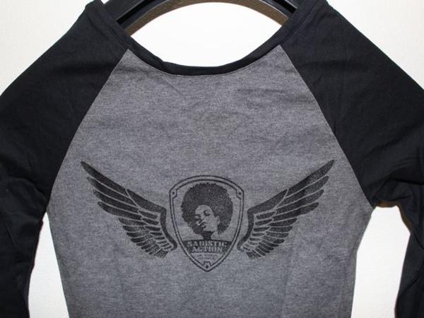 サディスティックアクション Sadistic Action レディース ラグラン チュニック Tシャツ NO22_画像6