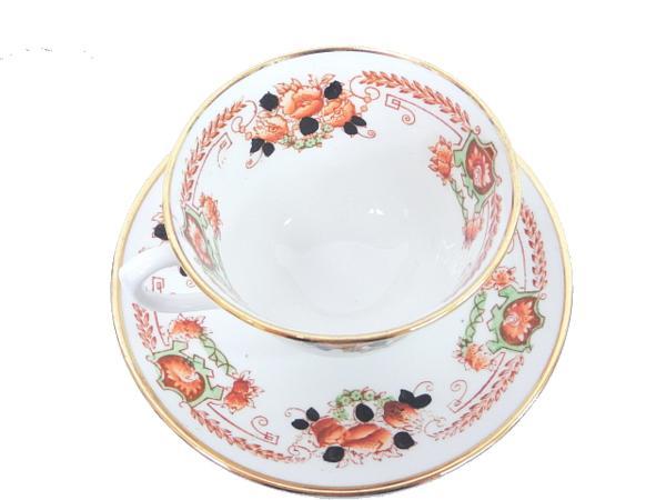 【ロイヤルアルバート】▲カップ&ソーサー&皿 手描き 食器_画像2