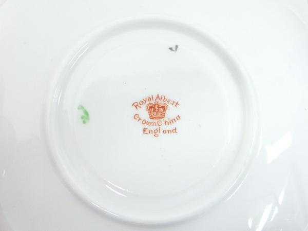 【ロイヤルアルバート】▲カップ&ソーサー&皿 手描き 食器_画像4