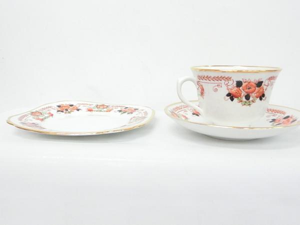 【ロイヤルアルバート】▲カップ&ソーサー&皿 手描き 食器_画像6