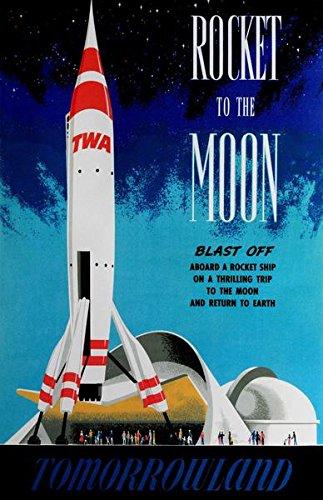 kk163ディズニートゥモローランド月ロケット1955ポスター17x11