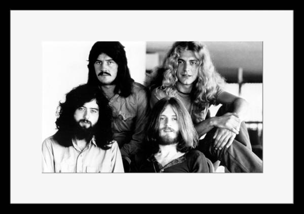 BW:UK人気ロックバンド/レッド・ツェッペリン/.Led Zeppelin/モノクロ写真フレーム-3