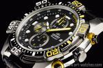 1円 オリエント 海外 1/20秒 クロノグラフ 日本製 本革 100m防水 腕時計