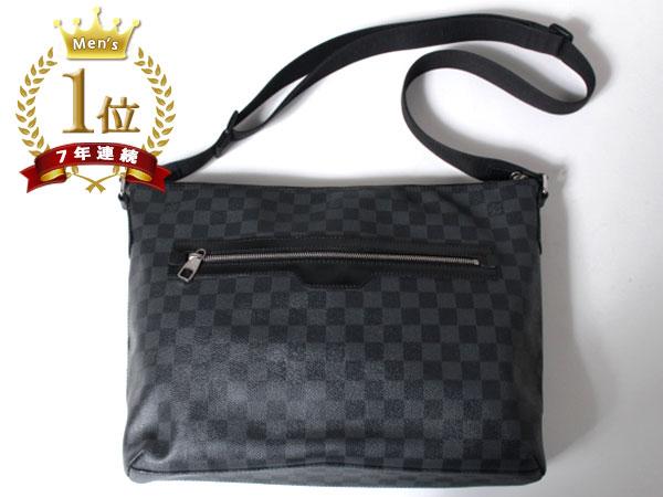 ■美品■Louis Vuitton ルイヴィトン ハワイ正規店購入本物 ダミエグラフィット ミックGM ショルダーバッグ N41105 メッセンジャーF1081_画像3