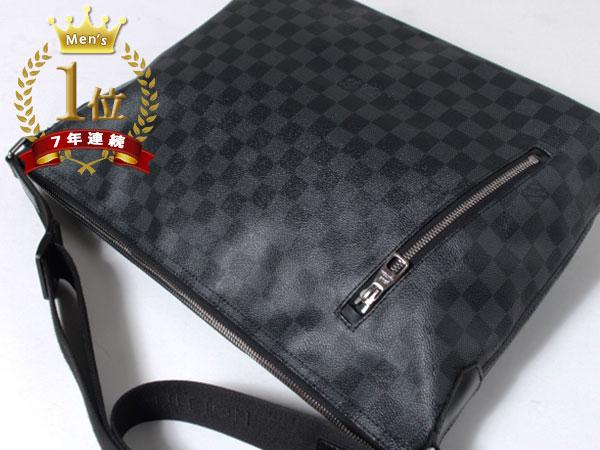■美品■Louis Vuitton ルイヴィトン ハワイ正規店購入本物 ダミエグラフィット ミックGM ショルダーバッグ N41105 メッセンジャーF1081_画像4
