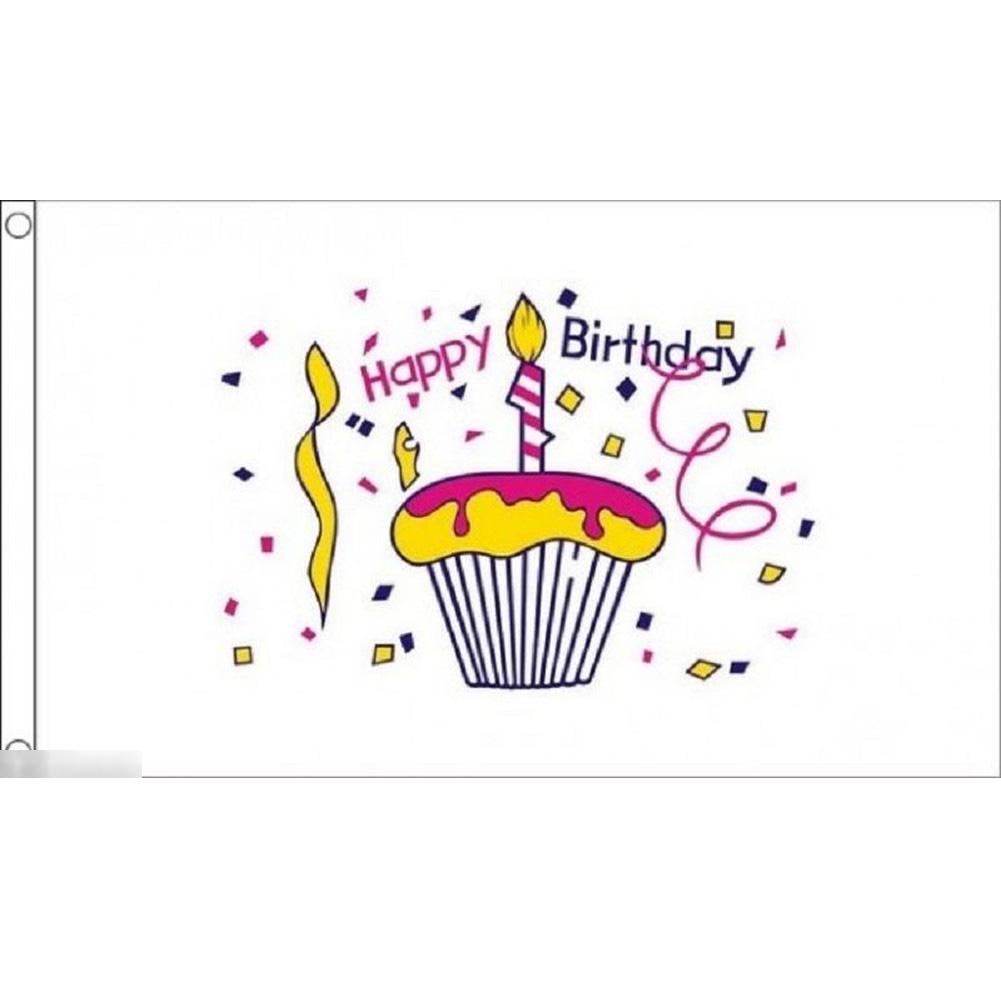 海外限定 国旗 ハッピーバースデー 誕生日会 パーティー イベント のぼり旗 特大フラッグ_画像1