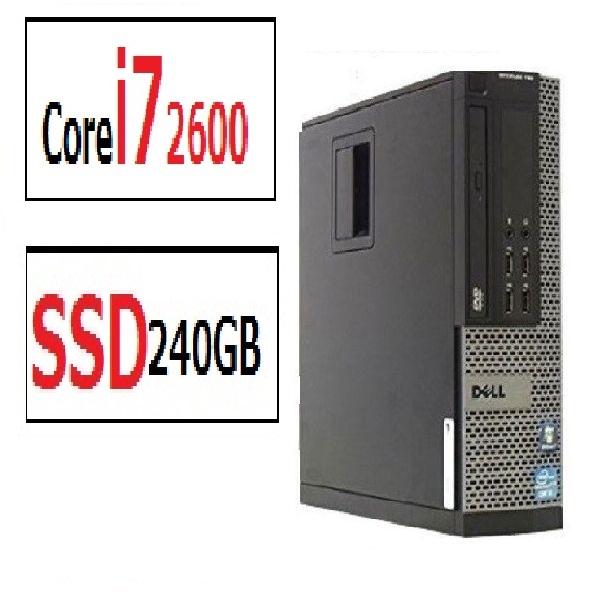 Core i7 メモリ8GB 新品SSD240GB Win7Pro64 DELL 790SF リカバリメディアあり