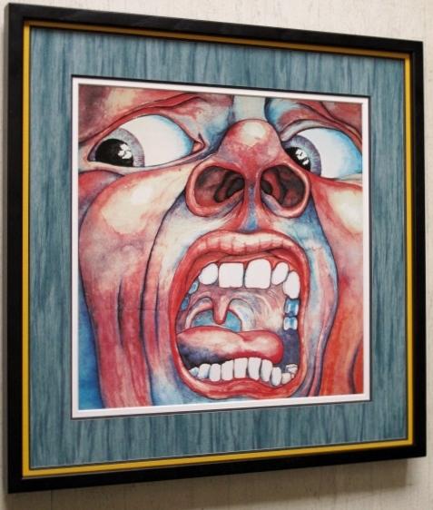 キング・クリムゾン/レコードジャケット ポスター額装/クリムゾン・キングの宮殿/King Crimson/額付名盤ロック/ロバート・フリップ