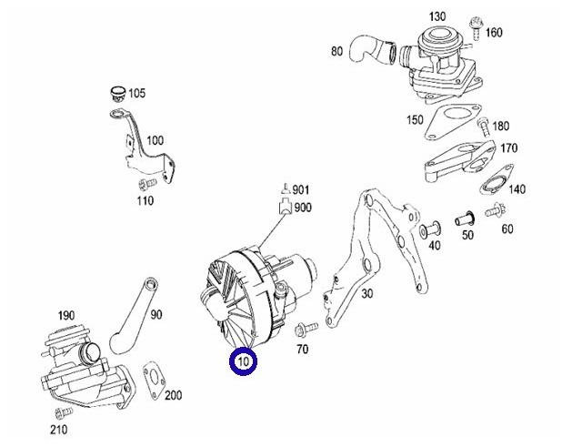Pierburg製 エアポンプ エアーポンプ/W639 Vクラス 3.2 3.5 V350/W463 Gクラス G550(NA)/W251 Rクラス R350 R550 (000-140-5185)_画像2
