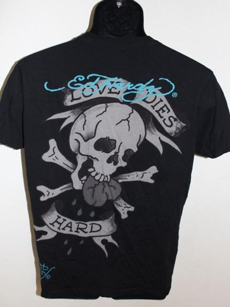 エドハーディー ED HARDY メンズ半袖Tシャツ ブラック Mサイズ 新品 黒_画像4