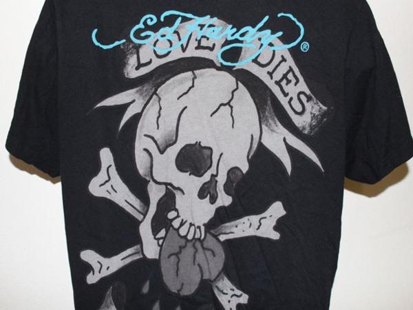 エドハーディー ED HARDY メンズ半袖Tシャツ ブラック Mサイズ 新品 黒_画像5