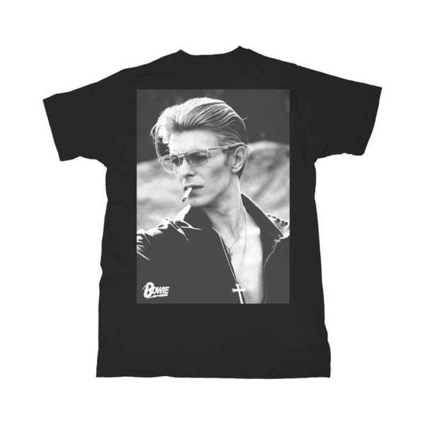 David Bowie Tシャツ デヴィッドボウイ Smoking Black S