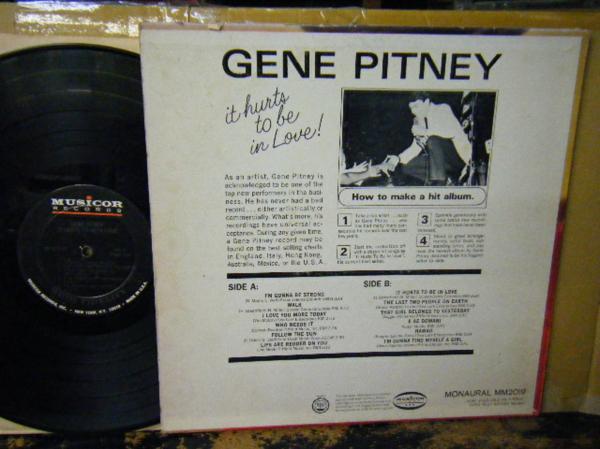 ▲LP GENE PITNEY/IT HURTS TO BE IN LOVE ジーン・ピットニー_画像2