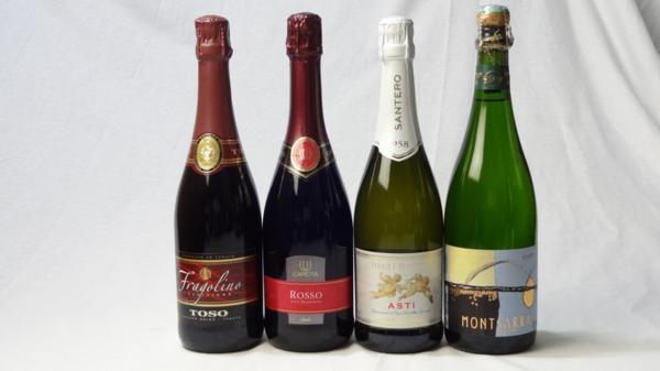 世界の甘口赤×白スパークリングワイン4本セット(ト_画像1