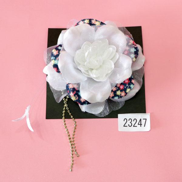 髪飾り 花 クリップ式 振袖 成人式 結婚式 新品(株)安田屋_画像1