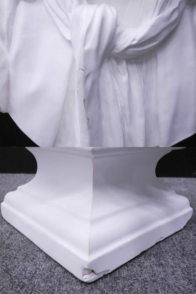 ♯1 [引取限定] 石膏像 モリエール 胸像 美術 デッサン オブジェ 全高約87cm_画像6
