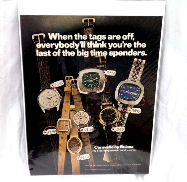 希少!LIFE誌切り抜き★ 時計の広告 Bullova 1960年代★ビンテージ雑誌ライフ切抜き